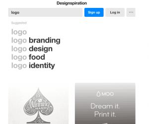 ایده طراحی لوگو در designspiration