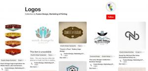 ایده طراحی لوگو در pinterest