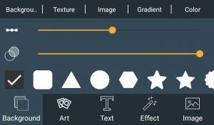 تنظیمات بک گراند اپلیکیشن 3d logo maker