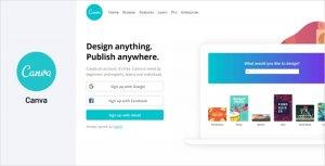 نرم افزار طراحی لوگو Canva