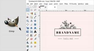 نرم افزار طراحی لوگو gimp