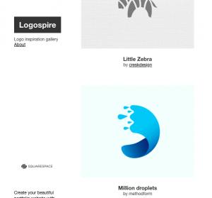 ایده طراحی لوگو در logospire