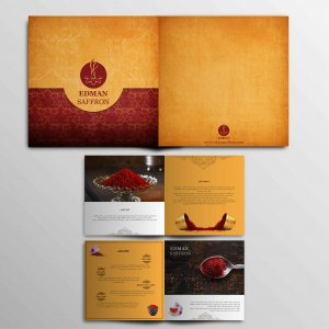 طراحی کاتالوگ شرکت زعفران ادمان