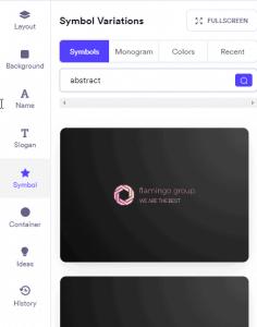 طراحی لوگو آنلاین در looka