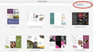 طراحی بروشور در word