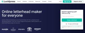 طراحی سربرگ آنلاین در lucidpress