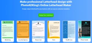 طراحی سربرگ آنلاین در photoadking