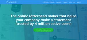 طراحی سربرگ آنلاین در Venngage