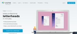 طراحی سربرگ آنلاین در visme